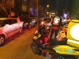 זירת התאונה ברחוב וולפסון
