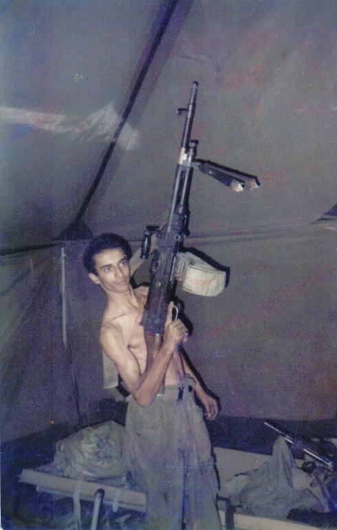 חני חדד בעת שירותו הצבאי. צילום: פרטי