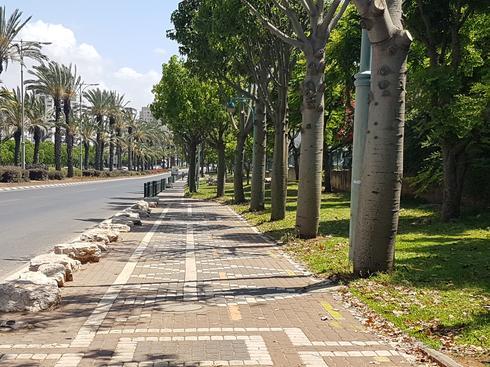 מסלול ההליכה בכביש 40/ דרך ירושלים. צילום: אייל עצמון