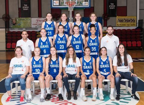 נבחרת הנערות. תמונה של דרג א'. צילום: עודד קרני איגוד הכדורסל