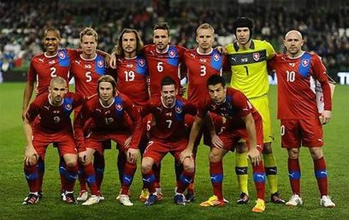מהפכה הקטיפה הכחולה. נבחרת צ'כיה. צילום: גטי אימג'ס