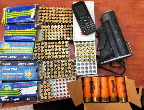 תחמושת בסאגור. צילום: דוברות משטרת ישראל