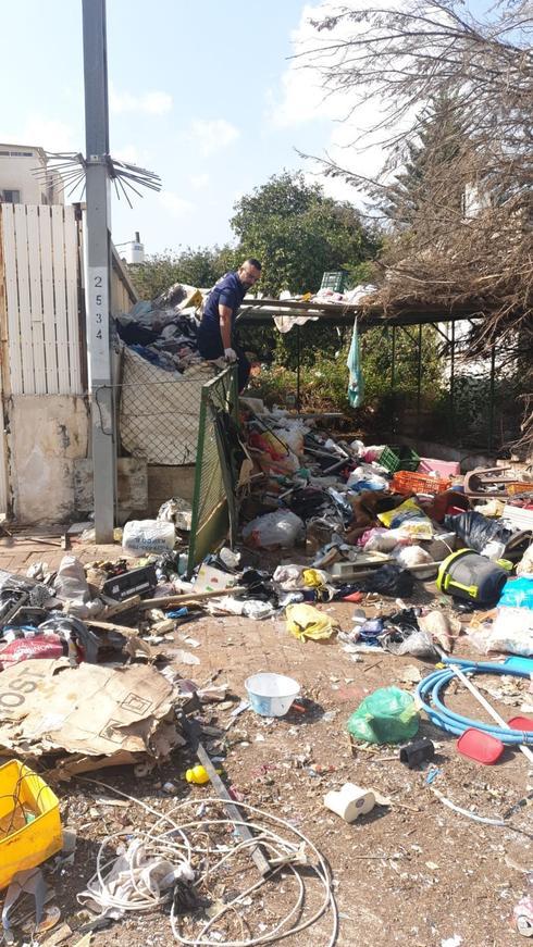 מבצע פינוי האשפה | צילום: עיריית פתח תקוה