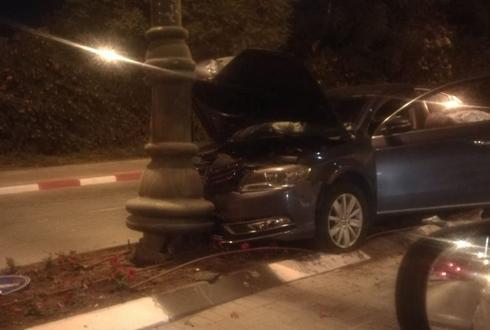 תאונה באי התנועה   צילום: פרטי