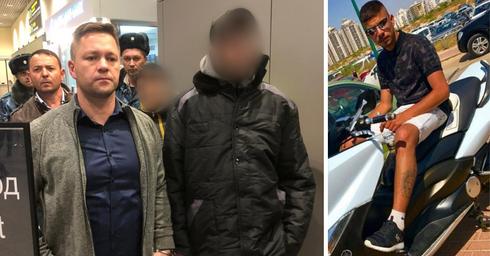 """החשודים בעת ההסגרה (משמאל) ועדיאל תורתי ז""""ל   צילומים: דוברות המשטרה"""