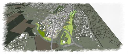תכנית הבנייה שאושרה. צילום: רשות מקרקעי ישראל