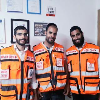 שלושת האחים שמתנדבים באיחוד הצלה. צילום: דוברות איחוד הצלה